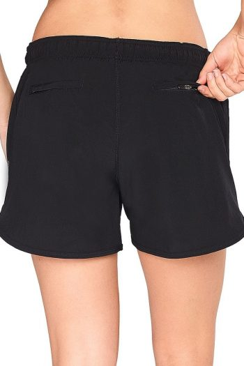 Abi and Joseph Momentum High Performance Short, Colour Black, Back View
