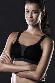 Anita Active DynamiXstar Racerback Sports Bra, Colour Black, Front View