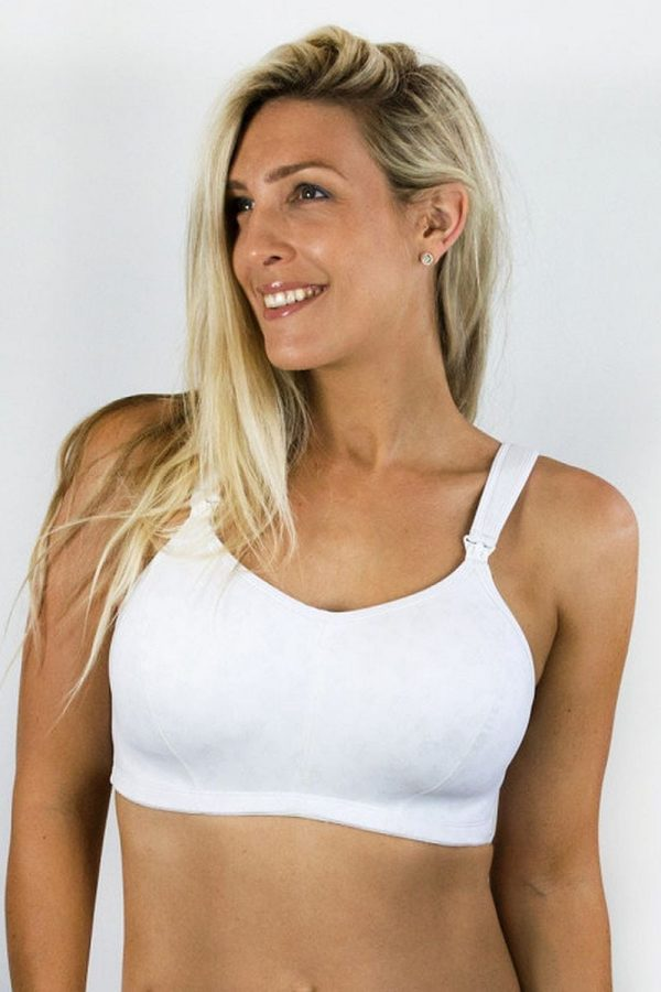 Cadenshae Ultimate Bra, Colour White, Front View