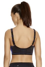 Freya Active Epic Underwired Crop Top Sports Bra, Colour Electric Black, Regular Back View