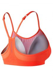 New Balance Hero Bra, Colour Tangerine, Back View