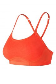New Balance Hero Bra, Colour Tangerine, Front View