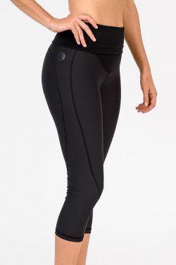 Cadenshae Classic Leggings, Colour Black, Side View
