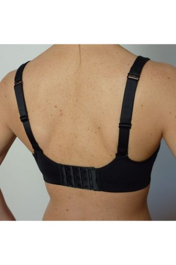 Sixty4 Compression Minimiser Bra, Black, Regular Back View